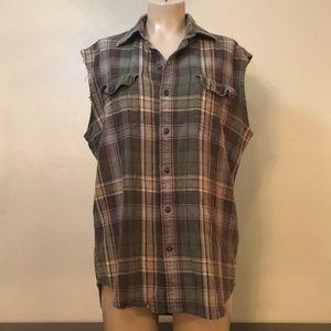 Timberland Boho Green Oversized Flannel Shirt Punk